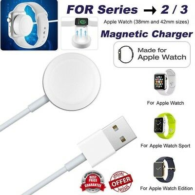 US Magnetic Charger Charging Cable For Apple Watch Edition iWatch 38mm&42mm--2m