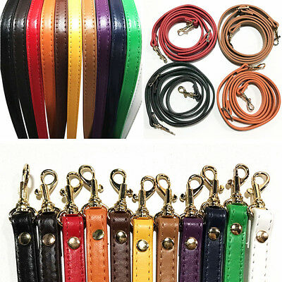 1.2cm*120cm Handbag Cross Body Shoulder Bag Strap PU Leather Handle Replacement