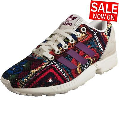 80c0c579c WOMENS ADIDAS ZX FLUX Purple Snake Casual Trainers S77433 -  68.90 ...