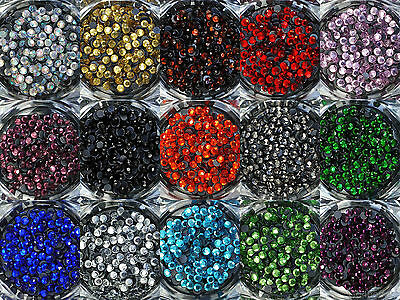 ss10 - 1440pcs Iron On Hot Fix Rhinestones in Varies Colours - Aus Stock
