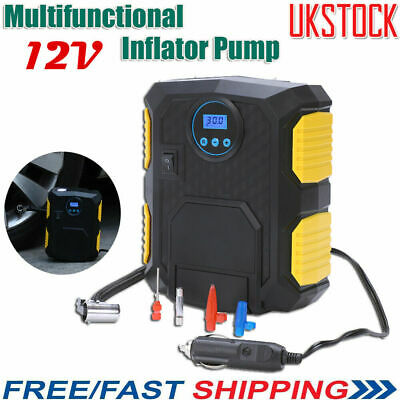 12V Car Digital Tyre Inflator Electric Air Compressor Pump Gauge Portable 100PSI
