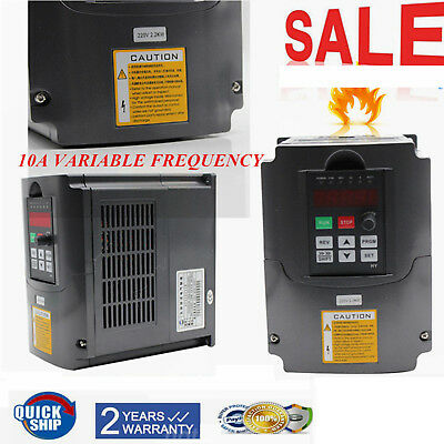 3HP 2.2KW 10A VFD Updated Variable Frequency Drive Speed Control 3 Phase CE 220V