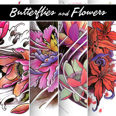 Tattoo Flash Art Book Butterflies Flowers - Sketchs Disegno Stencil Arte Design