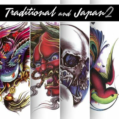 Tattoo Flash Art Book Traditional Japan - Sketchs Disegno Stencil Arte Design