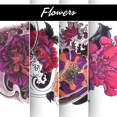 Tattoo Flash Art Book Flowers Fiori - Sketchs Disegno Stencil Arte Design