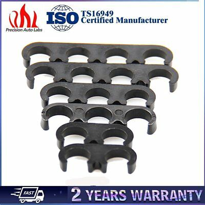 6pcs 7mm 8mm Black Plastic Spark Plug Wire Separator Divider Loom For Chevy Ford