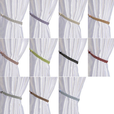 1 Pair Of Braided Satin Rope Curtain Tie Backs-Tiebacks Holdbacks Voile Usable