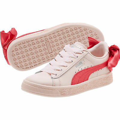 PUMA Basket Bow Girls  Alternate Closure Preschool Sneakers Girls Low Boot  Kids 2dc68cf90