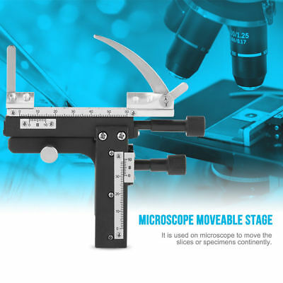 New Microscope Attachable Mechanical X-Y Moveable Stage Caliper With Scale ams