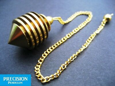 Golden Talisman Metal Precision Pendulum Dowser Dowsing Divination Energy