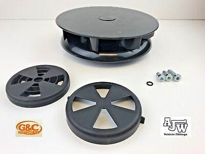 Rotary Wind Driven BLACK Roof Vent Van Low Profile Trucks Horseboxes 4x4 Turbo 3