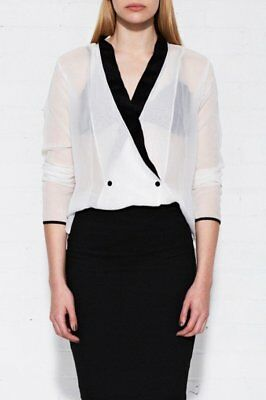 NEW Matea Designs JOY White Silk Shirt - women's fashion.