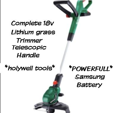 Qualcast 18v Cordless Grass Trimmer telescopic 1.5A 25cm lithium comlete kit