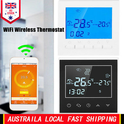 Programmable Smart WiFi Wireless Thermostat Digital LCD Display App Control  AU