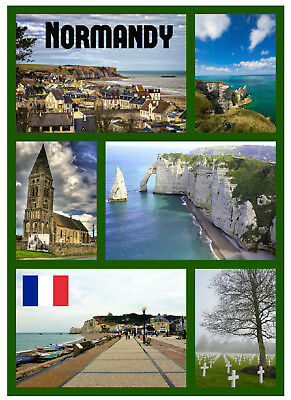 Normandy, France - Souvenir Novelty Fridge Magnet - Brand New - Sights / Gifts