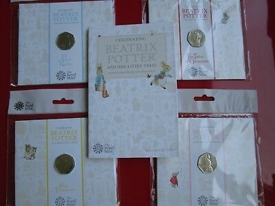 Beatrix Potter 2018 UK 50p Coins, Albums BUNC MINT CONDITION SEALED NEW