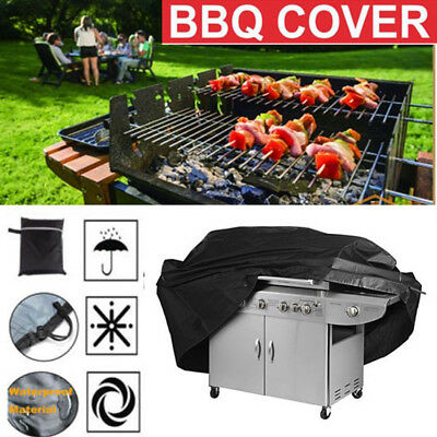 Black Waterproof  BBQ Cover Barbecue Covers Garden Patio Grill Cover Protector