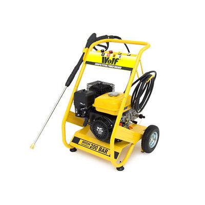 Wolf 200 BAR 3000psi 6.5HP Petrol Driven Power Pressure Jet Washer Solid Frame