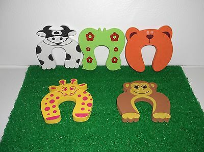 Child Safety Finger Pinch Guards, Foam Door Stop Set of 5 Pieces