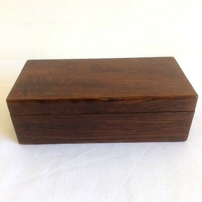 Vintage Wooden Jewellery Sewing Pencil Box 18x6x9cm