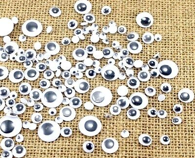 New All Size Googly Eyes Embellishments stickers wobbly Eyes, Peel and Stick