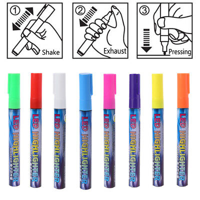 Queen Bee Marking Pen Fluorescent 8 Color Beekeeping Tools Plastic Marker Supply