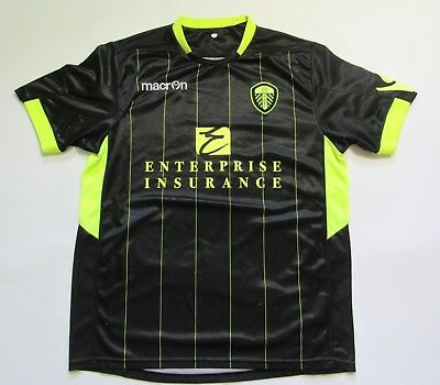 LEEDS UNITED AFC Away Shirt jersey Macron 2011-2012 The Peacocks adult SIZE M