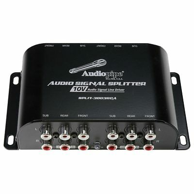 AUDIOPIPE SPLIT-3003RCA Audiopipe Multi-Audio Amplifier 3 RCA outputs w/bulit...