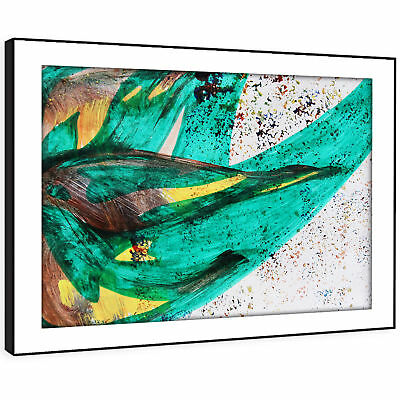 AB1202 Jamaica flag green Modern Abstract Framed Wall Art Large Picture Prints