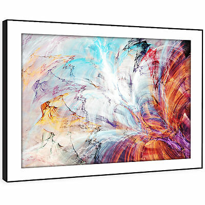 AB1671 Colourful Cool Funky Modern Abstract Canvas Wall Art Large Picture Prints