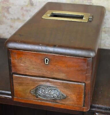 Antique Vintage O'brien Liverpool Cash Register Wooden Till Drawer prop