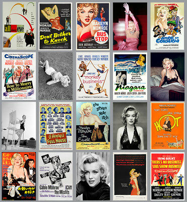 Marilyn Monroe Photo's & Movie & Film Posters Prints  A4 A3