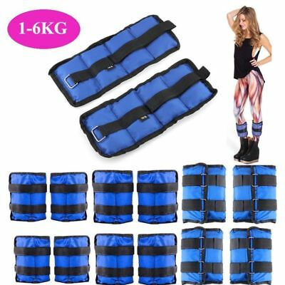 1kg 2kg 3kg 4kg 5kg 6kg Ankle Wrist Weights Exercise Training Fitness Running UK