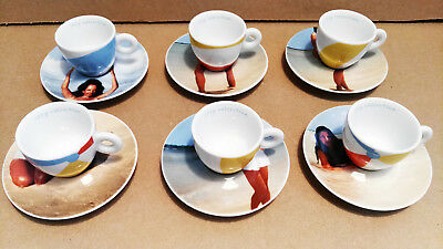 ILLY Collection 2002, Marina Abramovic, Rosenthal, 6 caffe espresso cups