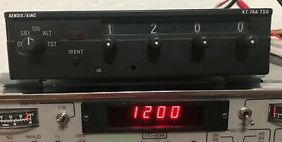 King KT76A transponder modern faceplate high serial number guaranteed 30 days