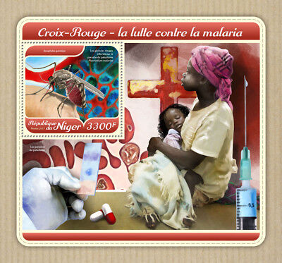 Niger 2017 MNH Red Cross Malaria 1v S/S Medical Health Stamps