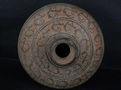 Ancient Large Size Teracotta Indus Valley Painted Pot With Ibex 2000 BC #K508#