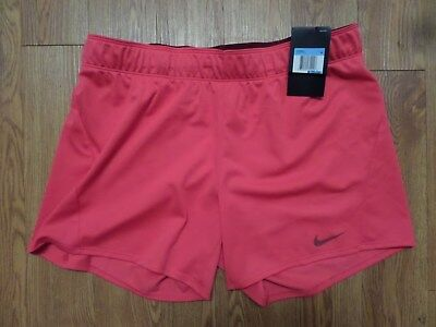 NWT MSRP $24 Womens PONY Running Yoga Workout Lined Shorts Poppy Red  L3797P3