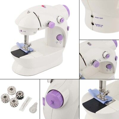 Multi function Electric Mini Sewing Machine Dual Speed Handheld Desktop With LED