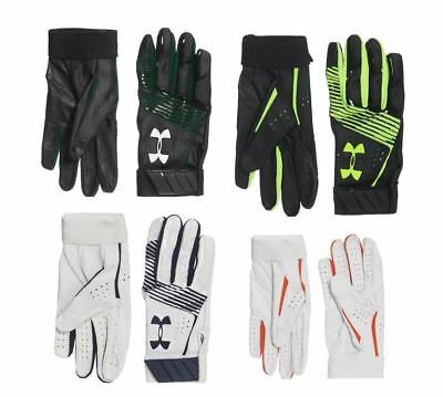Under Armour Boy's Youth Clean Up Baseball Batting Gloves Size S M L Black White