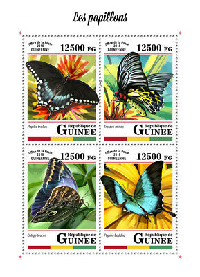 Guinea 2018 MNH Butterflies Butterfly 4v M/S Papillons Insects Stamps