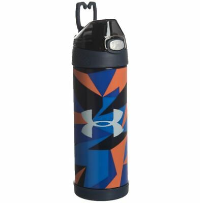 Under Armour Kid's Thermos Bottle 16 oz Blue Orange Beyond Vacuum Insulated New