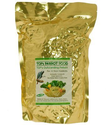 TOPs Parrot Bird Food Natural Healthy Nutritious Pellets  - 4lb