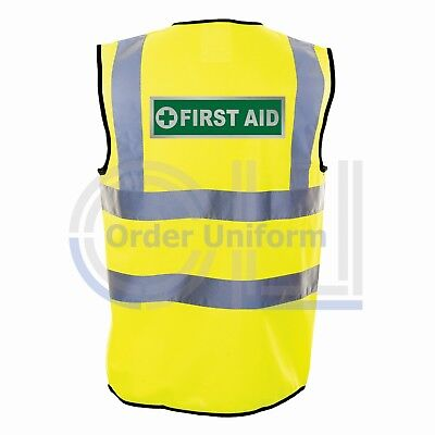 First Aid Reflective Hi Viz Safety Vest - High Vis Waistcoat Paramedic Medic