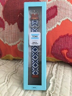 New! Toms for Apple Watch Band 38mm - Woven Blue (3 available)