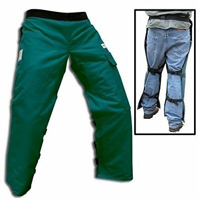 """Forester Chainsaw Safety Chaps with Pocket, Apron Style Short 35"""", Forest Green"""