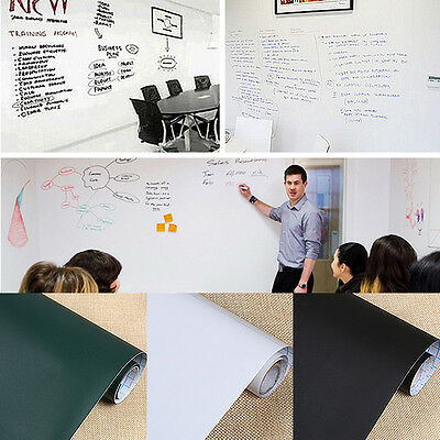 1x  WhiteBoard Wall Paper Sticker Removable Easy Erase Office Home School Vinyl