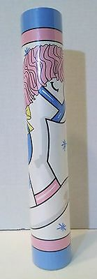 Sugar Pony Brandee Danielle Border Wallpaper Rocking Horse Hearts Pink Blue