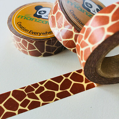 Washi Tape Giraffe Print 15Mm X 10Mtr Planner Craft Wrap Scrap Mail Art