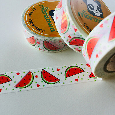 Washi Tape Watermelon Love 15Mm X 10Mtr Planner Craft Wrap Scrap Mail Art